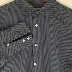 John Varvatos Long Sleeve Striped Dress Shirt